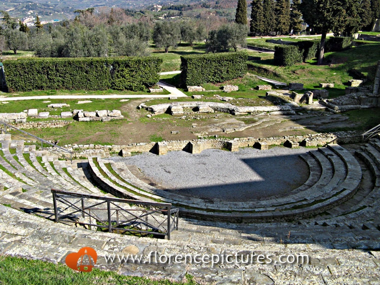 The archaeological area in Fiesole