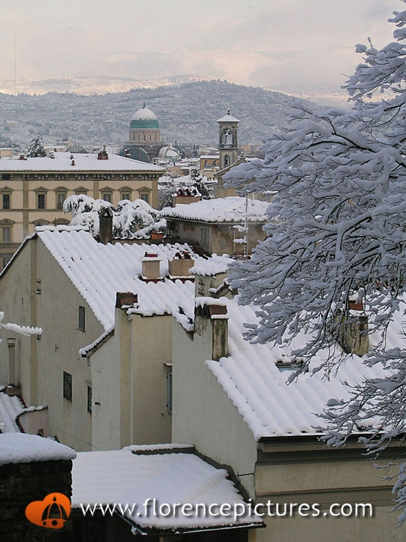 Florence under the snow
