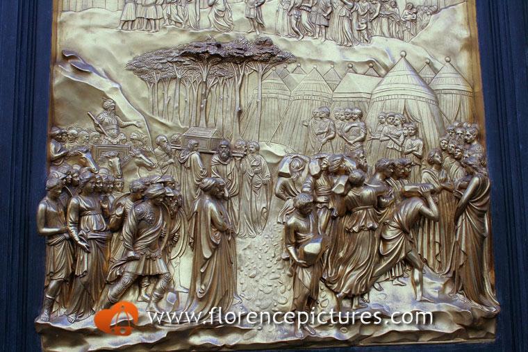 Ghibertiu0027s Baptistry Doors · « & Ghibertiu0027s Baptistry Doors Photo | Cathedral u0026 Piazza Duomo ...